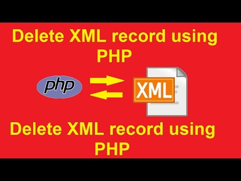 how to delete xml record using php