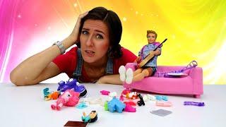 La limpieza general con muñecas de Barbie. Vídeos para niñas
