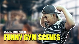 Funny Gym Scenes   Hyderabadi Comedy   Warangal Diaries