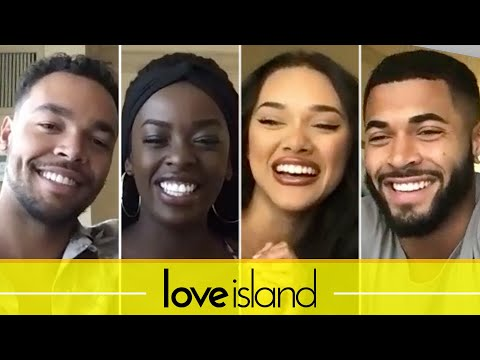 """""""Love Island"""" Couples Justine & Caleb And Cely & Johnny Take The Relationship Test"""