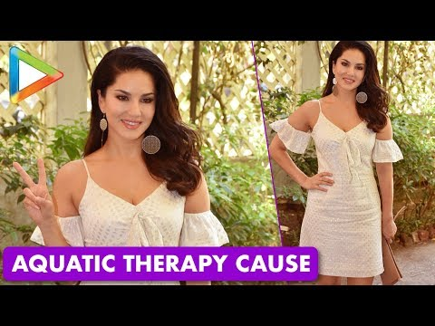 Sunny Leone Supports The Aquatic Therapy Awareness by Baby's Castle Foundation
