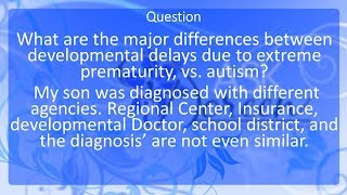 The Difference between Developmental Delays and Autism