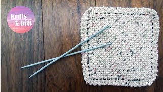 Learn To Knit - Simple Dishcloth - Knitting For Beginners