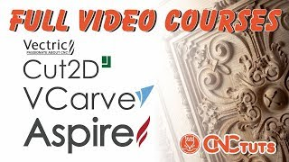 Full video course about Vectric Cut2d, Vcarve and Aspire for new beginners
