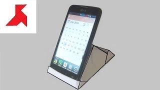 Как сделать вертикальную подставку для мобильного телефона из бумаги формата А4?
