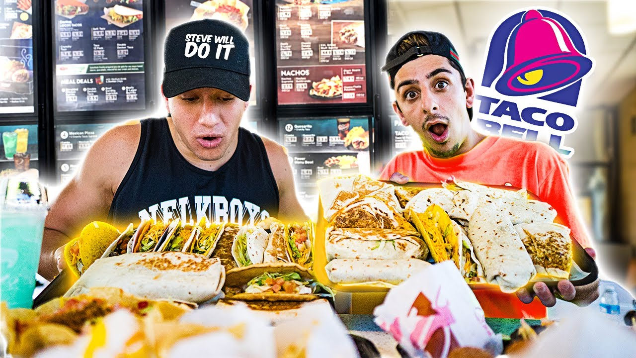 Eating The Entire Taco Bell Menu 50 000 Calories Ft Stevewilldoit Amen, still weird to me that jesse's dad is going around acting like a 19 year old with his kids friends. eating the entire taco bell menu 50