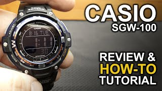 Casio SGW-100 - Review & Detailed How-To Tutorial on module 3157