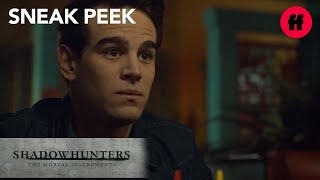 "Shadowhunters | Season 2, Episode 13 Sneak Peek: Simon and Luke Have ""The Talk"" | Freeform"