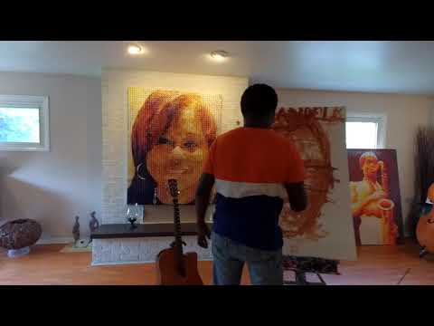 Painting Mandela by Abiola Akintola