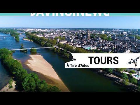 Visite aérienne de la ville de Tours