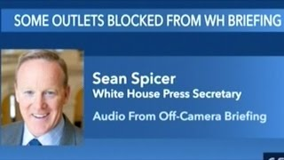 Sean Spicer Asked About Not Allowing CNN Into Press Event At White House