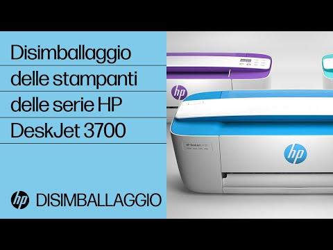Disimballaggio delle stampanti delle serie HP DeskJet 3700