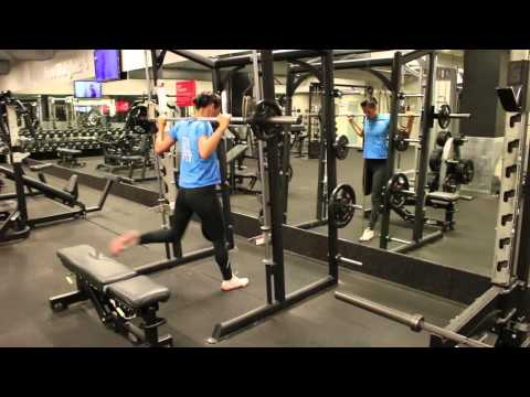 Bulgarian Split Squat On Smith Machine