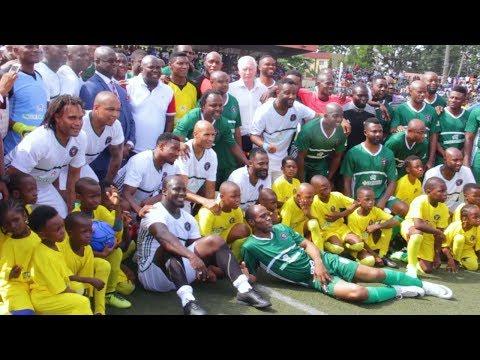 Skills & Goals ! African Football Legends Honour Ambode In Testimonial Match