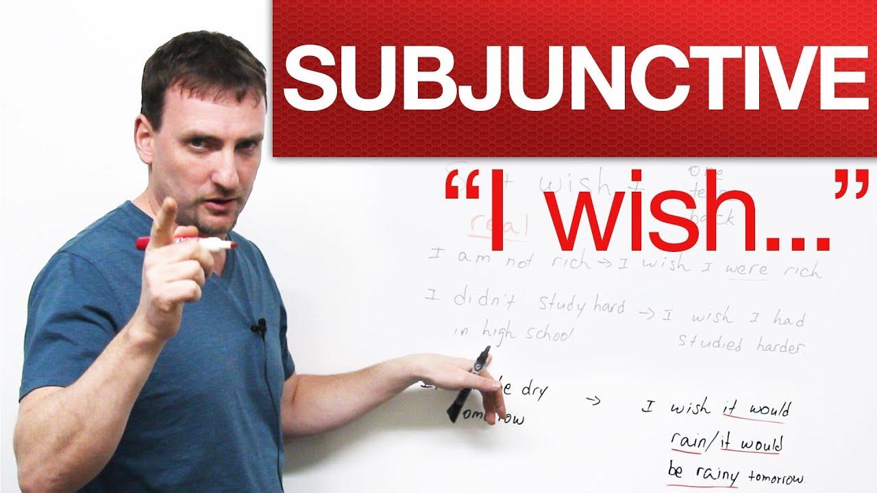 """English Grammar – """"I wish…"""" – Subjunctive · engVid"""