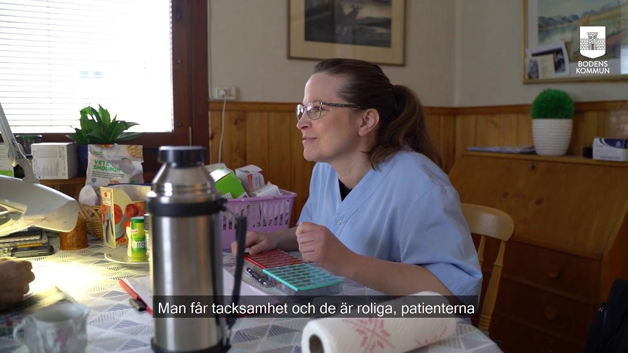 #JOBBAIBODENSKOMMUN - Charlotta Nordström, distriktssköterska