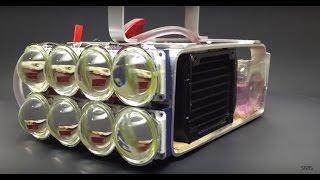 Water Cooled 72,000 Lumen LED Flashlight!!