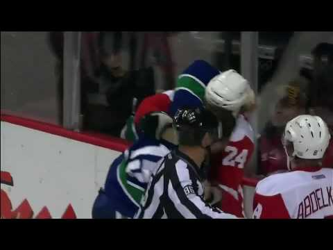 Tanner Glass vs. Brad May