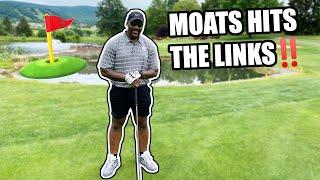 Arthur Moats Shows Off His Golf Skills