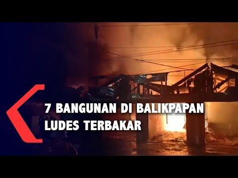 api berkobar satu jam bangunan ludes terbakar