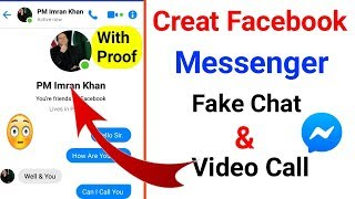 How to make facebook messenger fake chat | Facebook messenger fake video call
