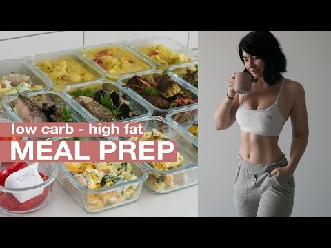 Video MEAL PREP WITH ME: Low carb for keto! Mains + Snacks + Breakfast
