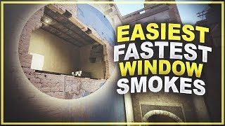 Easiest & Fastest Window Smokes (64 & 128 Tick)