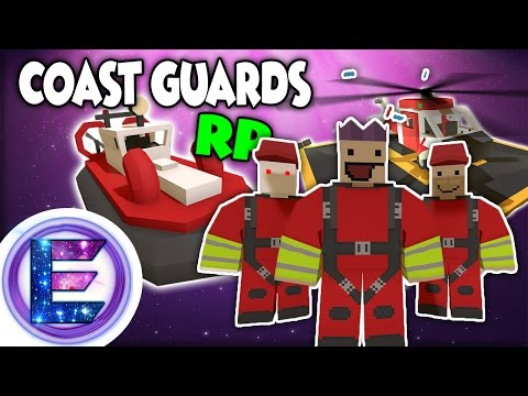 COAST GUARD RP - Sea rescue - SAVING LIFES - Unturned roleplay ( Funny Moments ) NEW Hawaii Map !