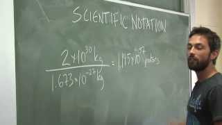 Scientific Notation Example
