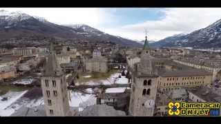 preview picture of video 'CITTA' DI AOSTA - Riprese Aeree Drone - Film con visione aerea'