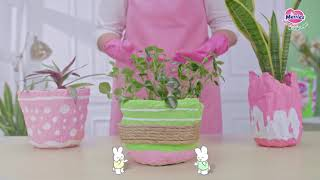 9 Langkah Mudah Menyulap Popok menjadi Pot Cantik