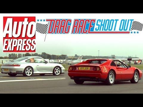 Ferrari 328 GTS vs Porsche 911 (996) - Drag Race Shoot-out