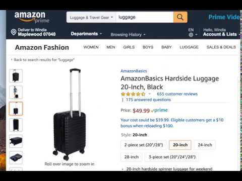 Cheap Affordable Luggage and Carry-on AmazonBasics Hardside  20-Inch Review
