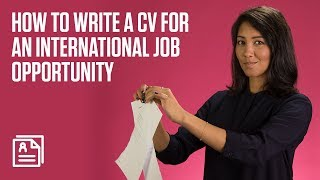 How to write a CV for an international job opportunity