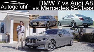BMW 7 Series vs Audi A8 vs Mercedes S-Class Best luxury sedan comparison review