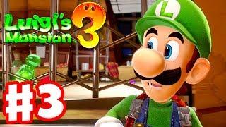 Luigi's Mansion 3 - Gameplay Walkthrough Part 3 - Luigi & Gooigi! 3F Hotel Shops! (Nintendo Switch)