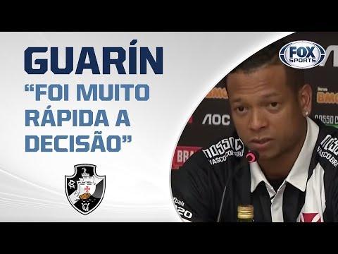Guarín é apresentado pelo Vasco; veja a primeira entrevista do novo volante!