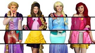 DISNEY PRINCESS CLOTHES SWITCH UP CHALLENGE WITH FROZEN ELSA, BELLE, ARIEL & RAPUNZEL. Totally TV