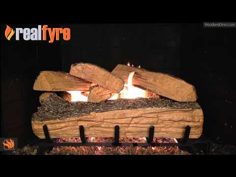 Real Fyre Split Oak Vented Gas Log Set