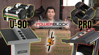 Powerblock Pro Series EXP VS U-90 Adjustable Dumbbells || 5-90 lbs || Home Gym || 4K