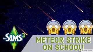METEOR STRIKE ON SCHOOL: EVERYBODY DIES! - THE SIMS 3