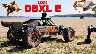 Big RC Car & Drone Fun - Losi DBXL E and DJI Air 2S & FPV Drone