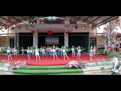 Chiến binh xanh bảo vệ môi trường - Các bé lớp 5TB- Trường ầm non Lục Ba