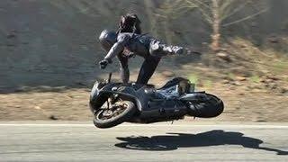Реакция мотоциклиста/профи за рулем/За шаг от аварии / мото авария/ родился в рубашке