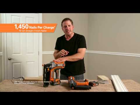 RIDGID 18V Brushless HyperDrive Nailers