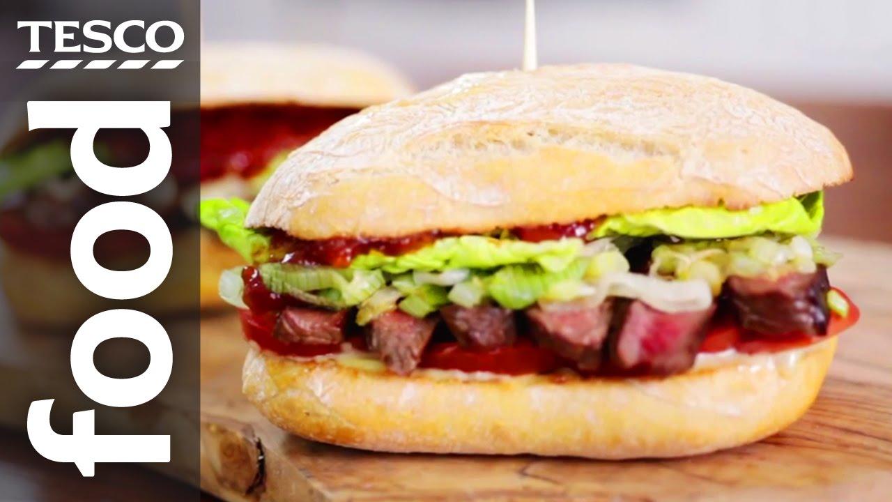 Steak and onion sandwich