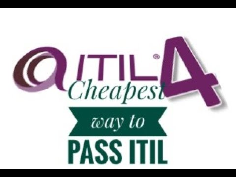 How to pass ITIL 4 the cheapest way.