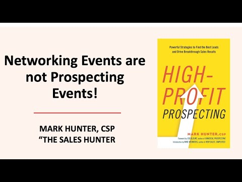 Networking is Not Prospecting – 3 Things You Need to Do to Make the Most of a Networking Event