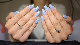 Gel Nails Refill - Baby Blue Nails | BeautybyDianaAndreea