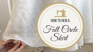 Hemming A Full Circle Skirt: Lace Bridal Gown